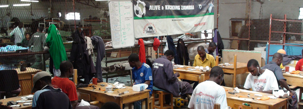 The Alive & Kicking factory in Zambia