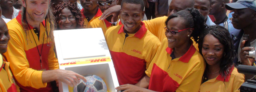 DHL bring The Ball into Togo