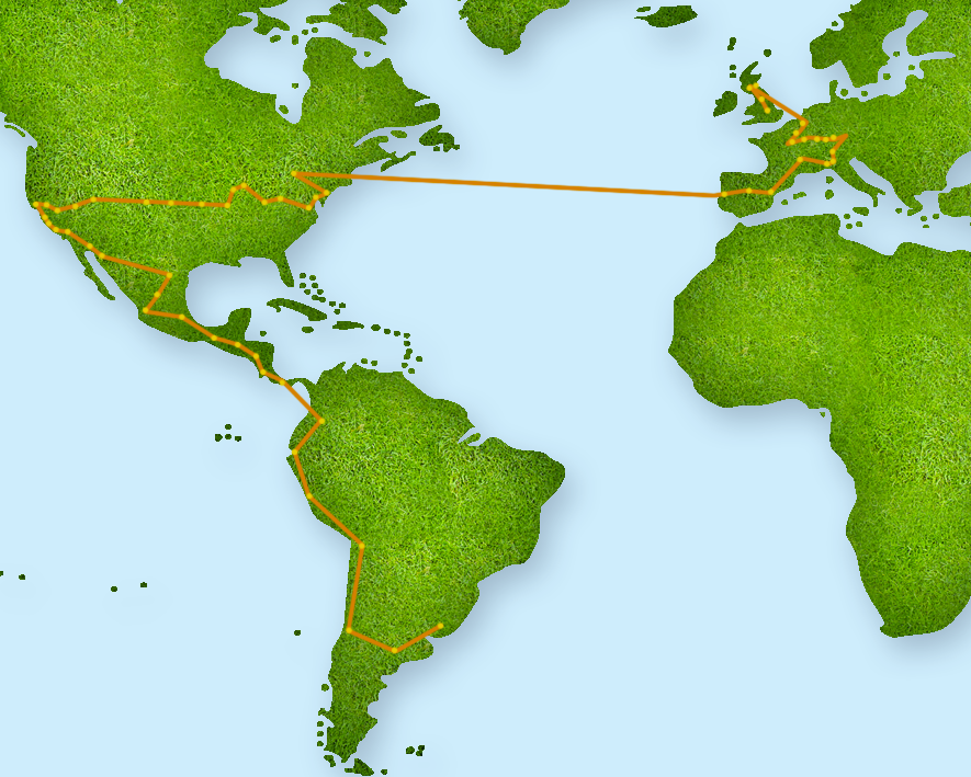 The Ball's route in 2014