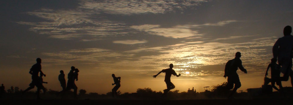 A sunset game in Mali